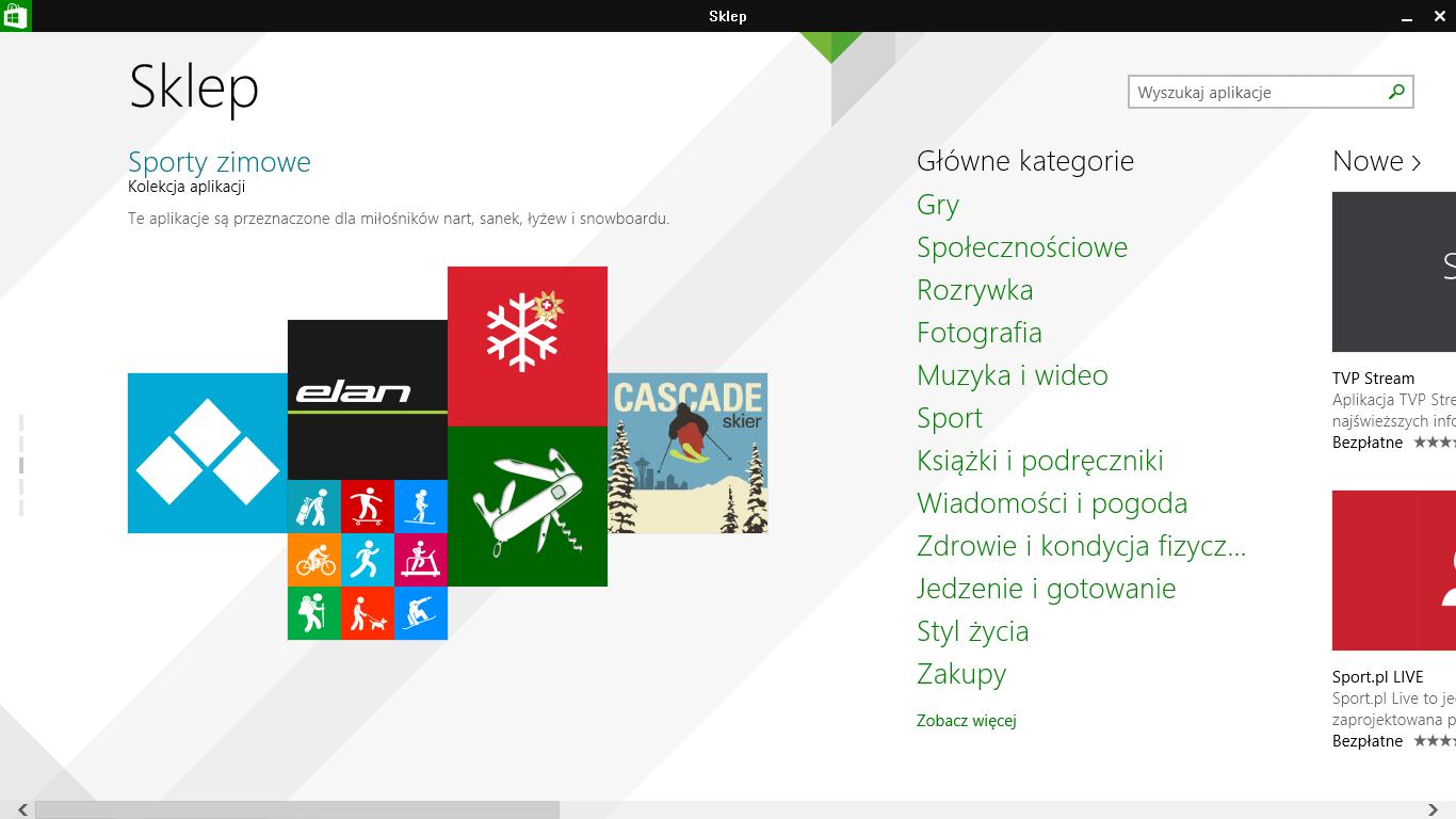 Pasek tytułu w aplikacjach Modern z przyciskami minimalizacji/zamykania w Windows 8.1 Update 1
