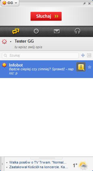 Komunikator GG - lista kontaktów