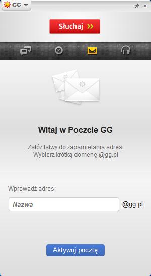 Komunikator GG - poczta