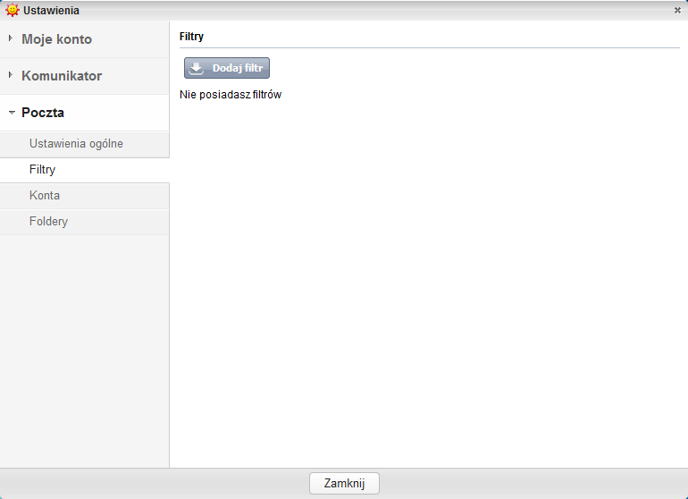 Komunikator GG - filtry poczty