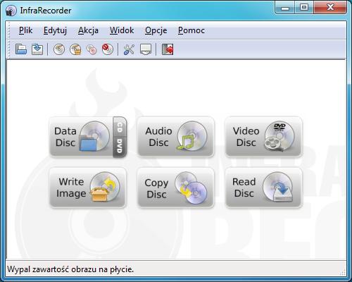 Okno główne programu InfraRecorder