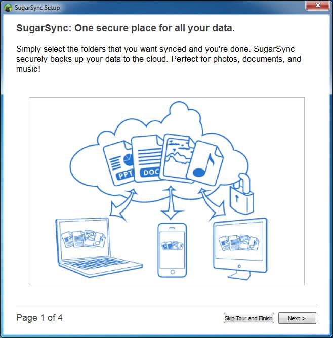 Samouczek w kreatorze konfiguracji klienta usługi SugarSync - krok 1