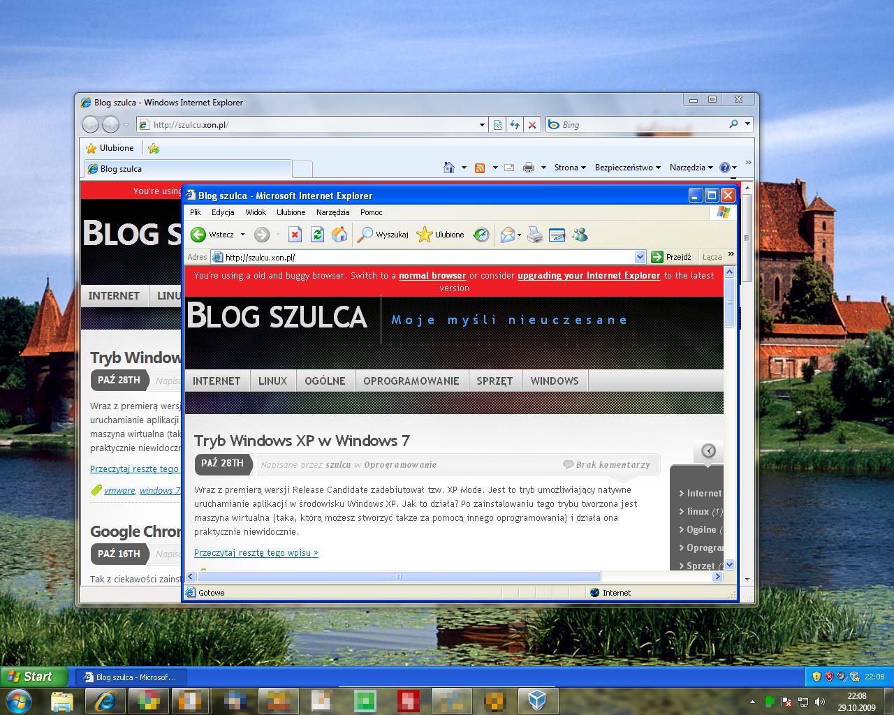Tryb zintegrowany w programie VirtualBox
