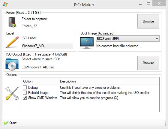 Tworzenie obrazu ISO za pomocą programu Win Toolkit