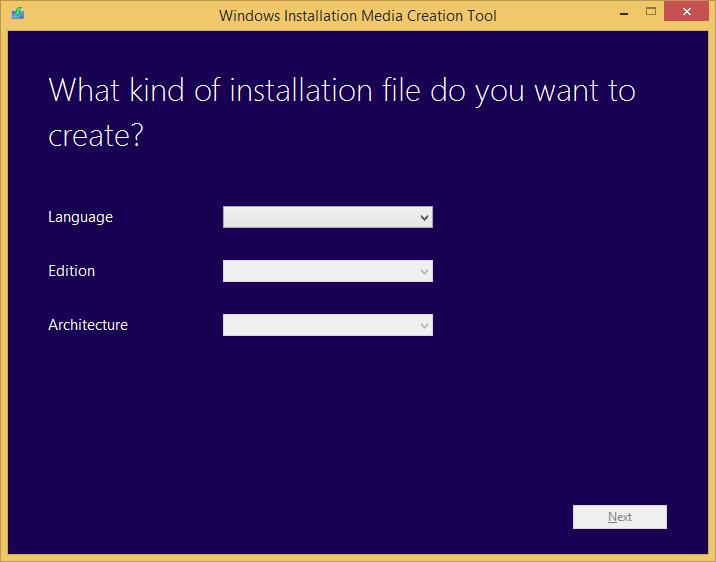 Tworzenie nośnika instalacyjnego Windows 8.1 - wybór języka, edycji systemu oraz architektury