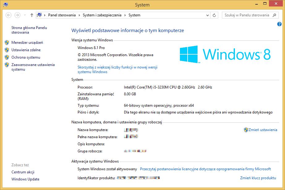 Tworzenie nośnika instalacyjnego Windows 8.1 - sprawdzanie edycji systemu oraz architektury