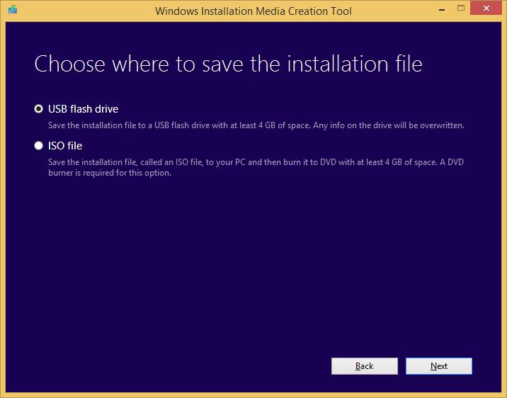 Tworzenie nośnika instalacyjnego Windows 8.1 - wybór lokalizacji zapisu plików instalacyjnych