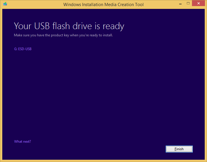 Tworzenie nośnika instalacyjnego Windows 8.1 - pliki zostały skopiowane na pamięć USB