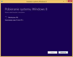 Tworzenie nośnika instalacyjnego Windows 8 - pobieranie plików instalacyjnych na dysk