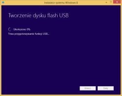 Tworzenie nośnika instalacyjnego Windows 8 - przygotowywanie nośnika USB
